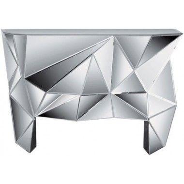 Console miroir Prisma design 126 x 38