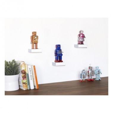 Ensemble de 3 étagères décoratives en bois blanc