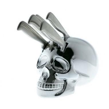 Porte-couteaux Tête de mort