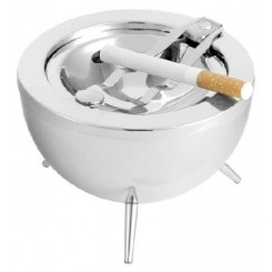 CENDRIER BBQ METAL CHROME BALVI
