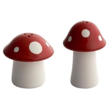 Salière et poivrière champignons