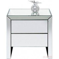 Table de chevet design miroir Real Dream 2 tiroirs