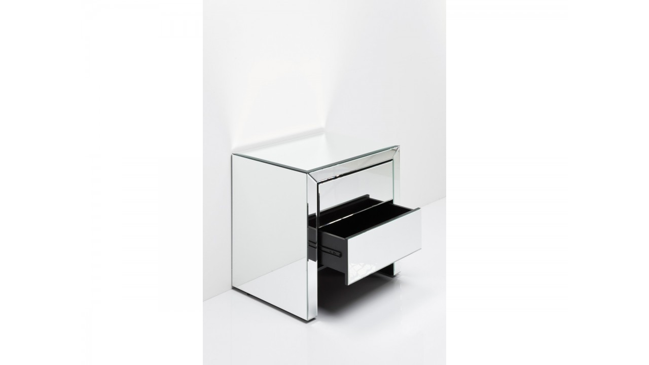 achetez votre table de chevet design miroir real dream 2 tiroirs. Black Bedroom Furniture Sets. Home Design Ideas