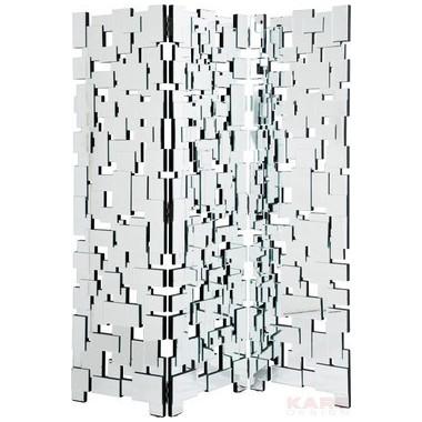 Paravent design miroir Maze 180 x 150