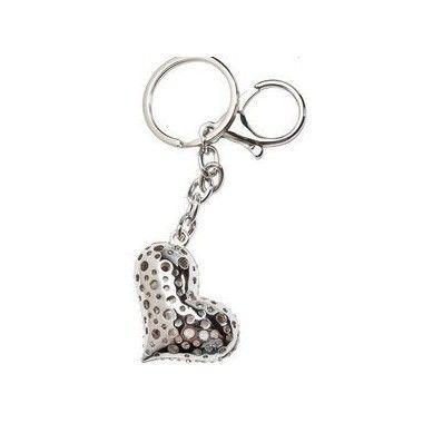 Porte clés Coeur strass chrome
