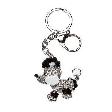 Porte clés Chien strass