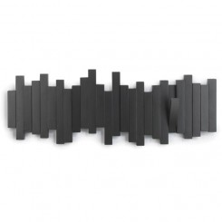 Porte manteau mural Sticks noir
