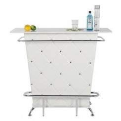 BAR SIMILI CUIR BLANC ET CHROME ROCKSTAR KARE DESIGN