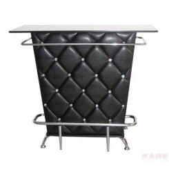 BAR SIMILI CUIR NOIR ET CHROME ROCKSTAR KARE DESIGN