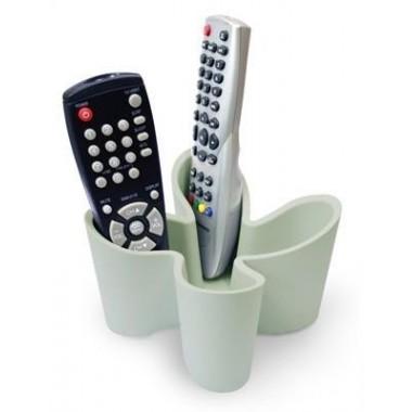 Range télécommande design blanc gris