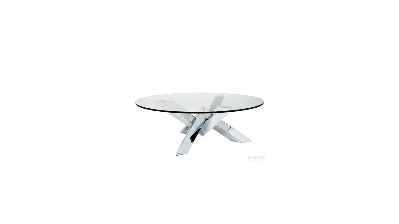 Achetez votre table basse crystal design ronde chrome for Table basse design ronde