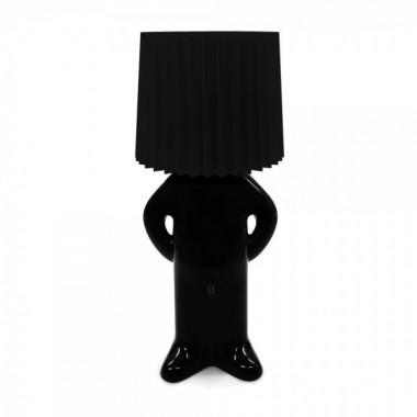 Lampe design MR. P One man shy noire abât jour noir