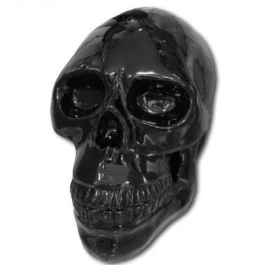 Tête de mort géante en résine noir