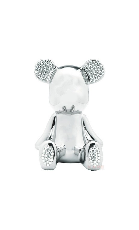 Tirelire art toys Funky Bear chromée strass
