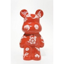 TIRELIRE ART TOYS OURSON ROUGE FUNKY KARE DESIGN