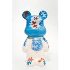 TIRELIRE ART TOYS OURSON BLANC FUNKY KARE DESIGN