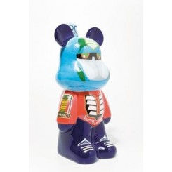 TIRELIRE ART TOYS OURSON BLEU FUNKY KARE DESIGN