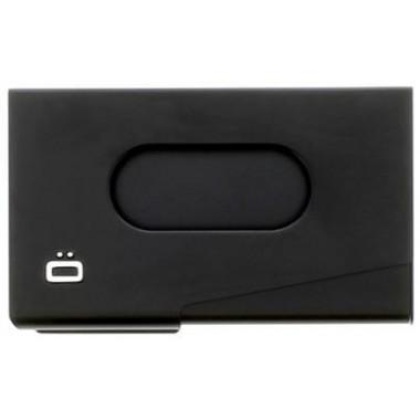 Porte cartes de visite en aluminium Ogon design noir