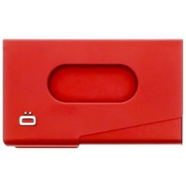 Porte cartes de visite en aluminium Ogon design rouge