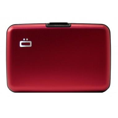 Porte cartes en aluminium Ogon designs rouge