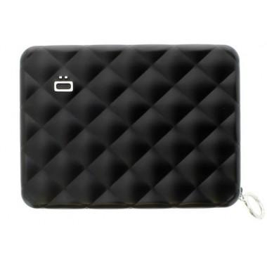 Portefeuille zippé aluminium Ogon Designs noir (Format Passeport)
