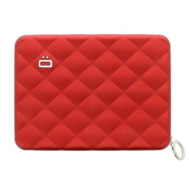Portefeuille zippé aluminium Ogon Designs rouge (Format Passeport)