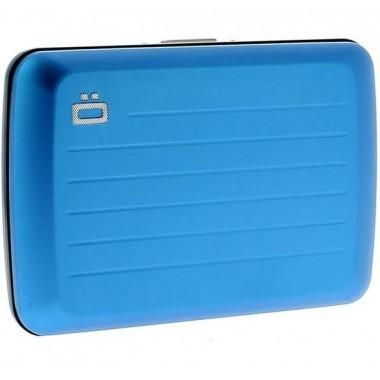 Porte cartes en aluminium Ogon designs V2 bleu étanche