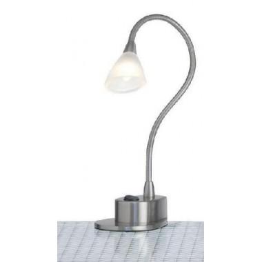 Lampe de bureau mini halogène design acier mat