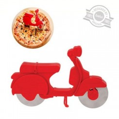 Coupe pizza Scooter rouge