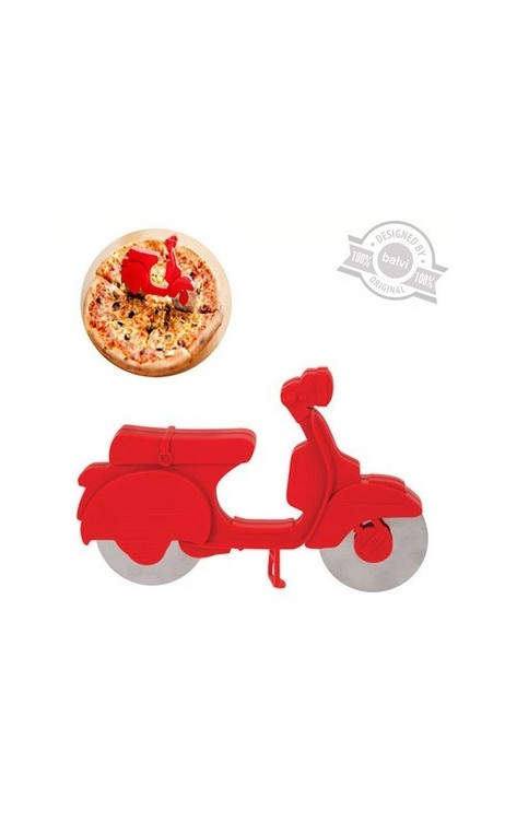 Roulette à pizza Scooter rouge