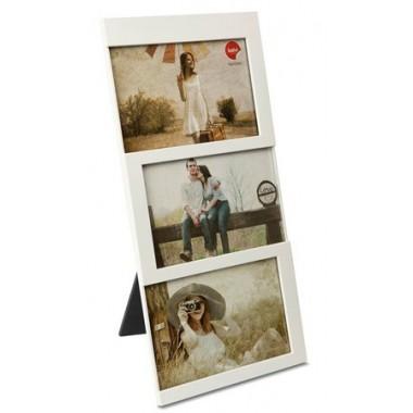 CADRE 3 PHOTOS BLANC 10 X 15 CM DIJON BALVI