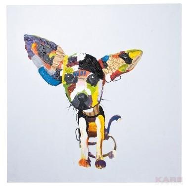Tableau peinture à l'huile Chihuahua 100 x 100