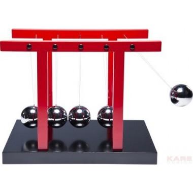 Balancier de Newton balles cinétiques chromées XXL