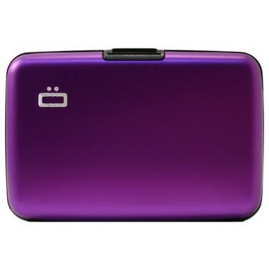 Porte cartes en aluminium Ogon designs violet