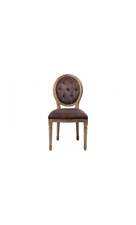 Chaise Louis nature cérusé