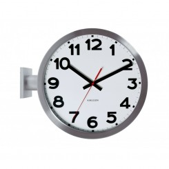 "Horloge de ""Gare"" Number Karlsson double face"