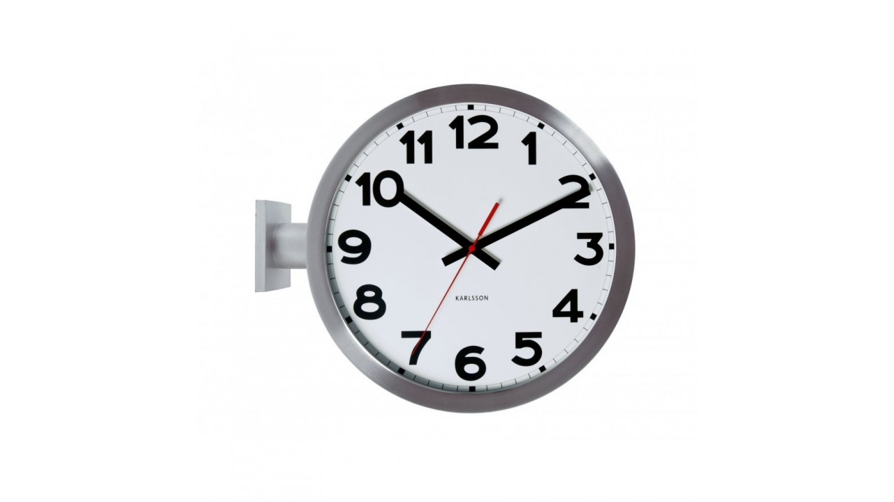 horloge de gare number karlsson double face. Black Bedroom Furniture Sets. Home Design Ideas