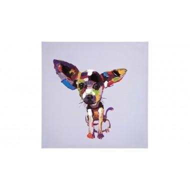 Tableau peinture à l'huile Chihuahua 50 x 50