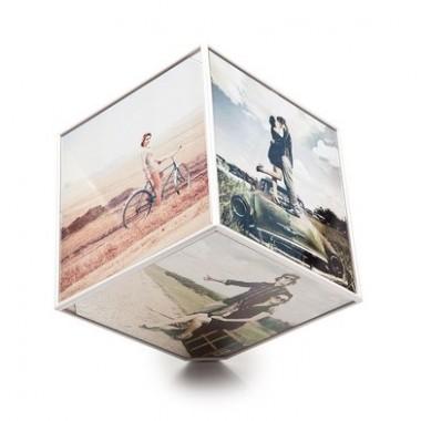 Cadre photos cube rotatif