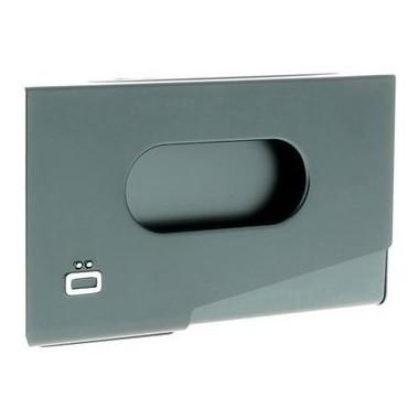 Porte cartes de visite en aluminium Ogon design platine