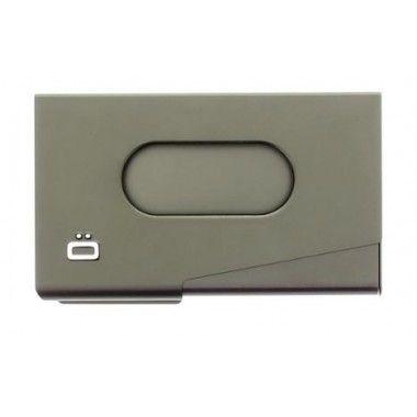 Porte cartes de visite en aluminium Ogon designs titane