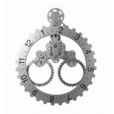 Horloge en engrenage Grand Roue avec date argent