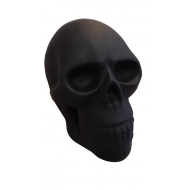Statue tête de mort noir mat 60cm