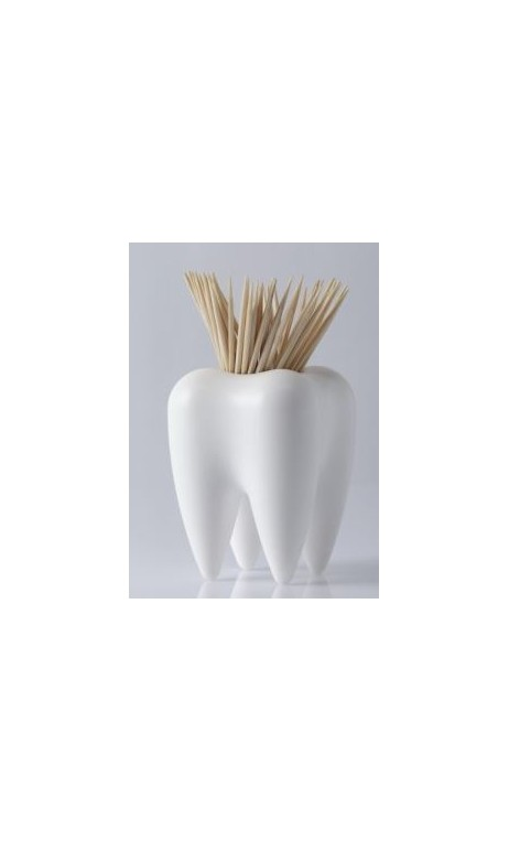 Distributeur de cure dents Pick a Tooth blanc