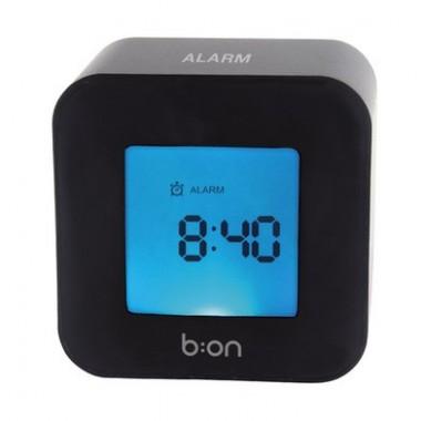 Réveil design LCD Roller noir