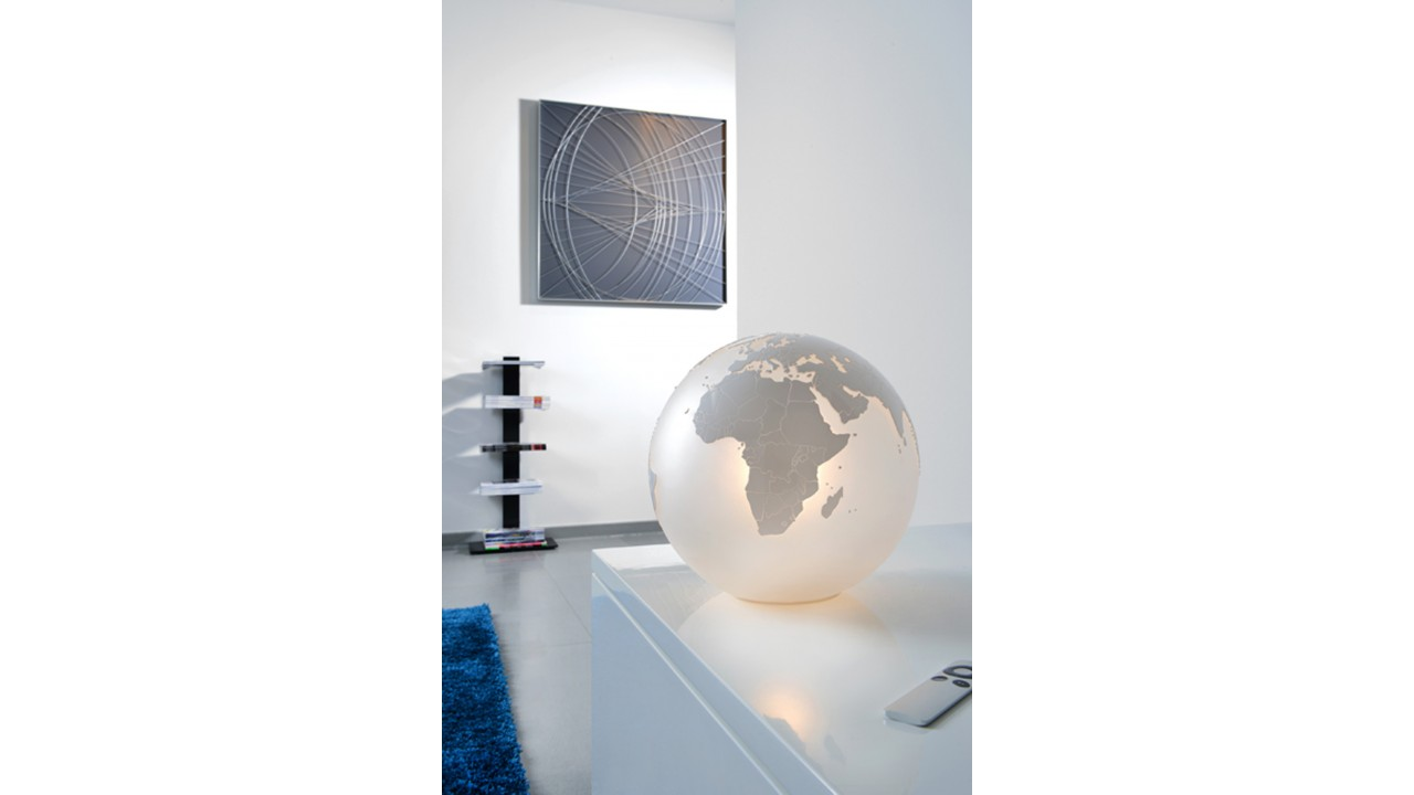 achetez votre lampe globe terrestre en verre d poli sompex pas. Black Bedroom Furniture Sets. Home Design Ideas