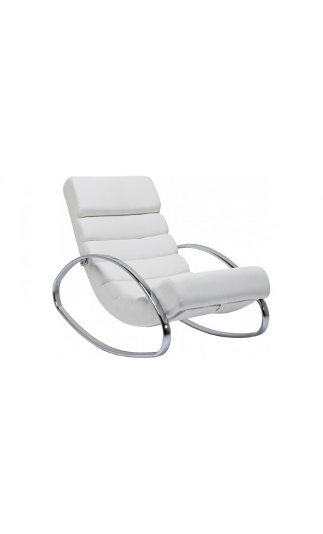 achetez votre fauteuil rocking chair manhattan blanc pas. Black Bedroom Furniture Sets. Home Design Ideas