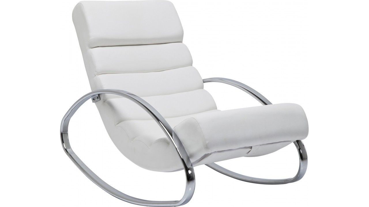 achetez votre fauteuil rocking chair manhattan blanc pas cher sur. Black Bedroom Furniture Sets. Home Design Ideas
