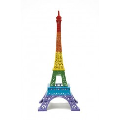 Tour Eiffel Merci Gustave Rainbow Capital de l'amour