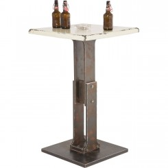 Table de bar Key blanc 65 x 65